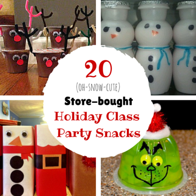 20 pre packaged winter holiday class party snacks