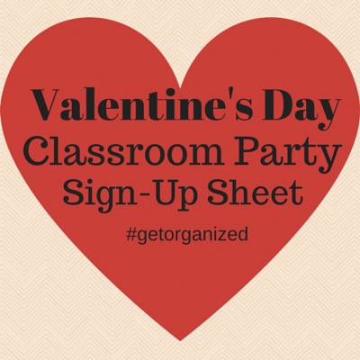 valentine s day class party sign up sheet pto today