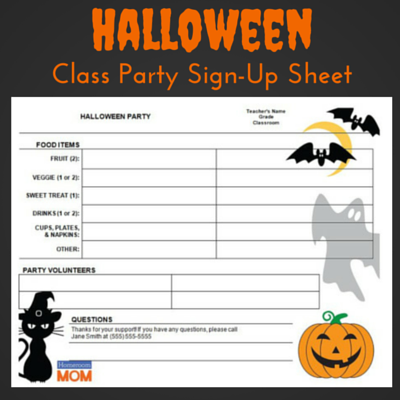 Plan an easy and fun halloween classroom party pto today ask parents to donate supplies snacks and drinks spiritdancerdesigns Image collections