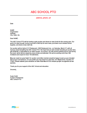 donation request letter for silent auction school auction planning faqs pto today 14361
