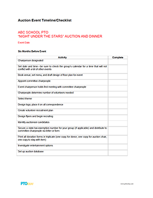 Donation request letter for school supplies donation for Auction program template