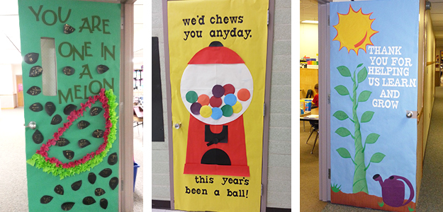 teacher appreciation door decorating ideas tips for pto and pta rh ptotoday com Dory Classroom Door Decorated Welcome Classroom Door