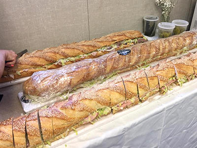 8 Turn Loaves Of Italian Bread Into Supersize Subs Just Slice And Serve
