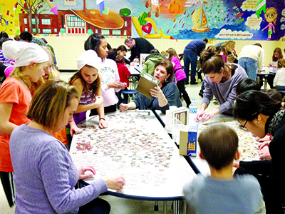 For A Fun All Ages Event Put Down The Video Games And Pick Up Jigsaw Puzzle At Oakton Va Elementary Teams Of Five Participants Including Least