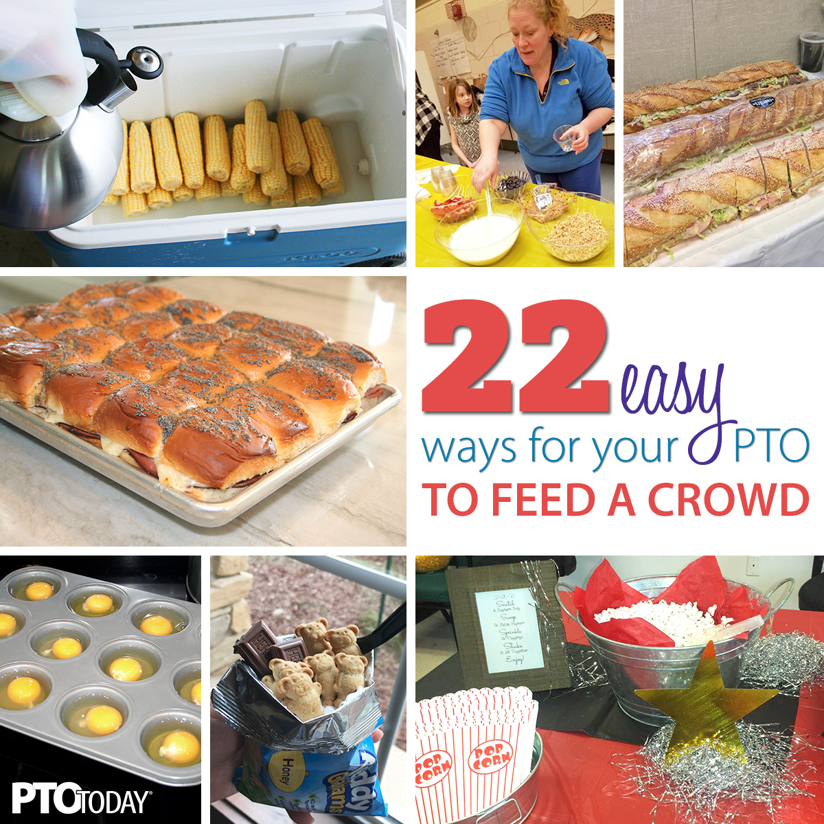 22 easy meal ideas for large groups - pto today