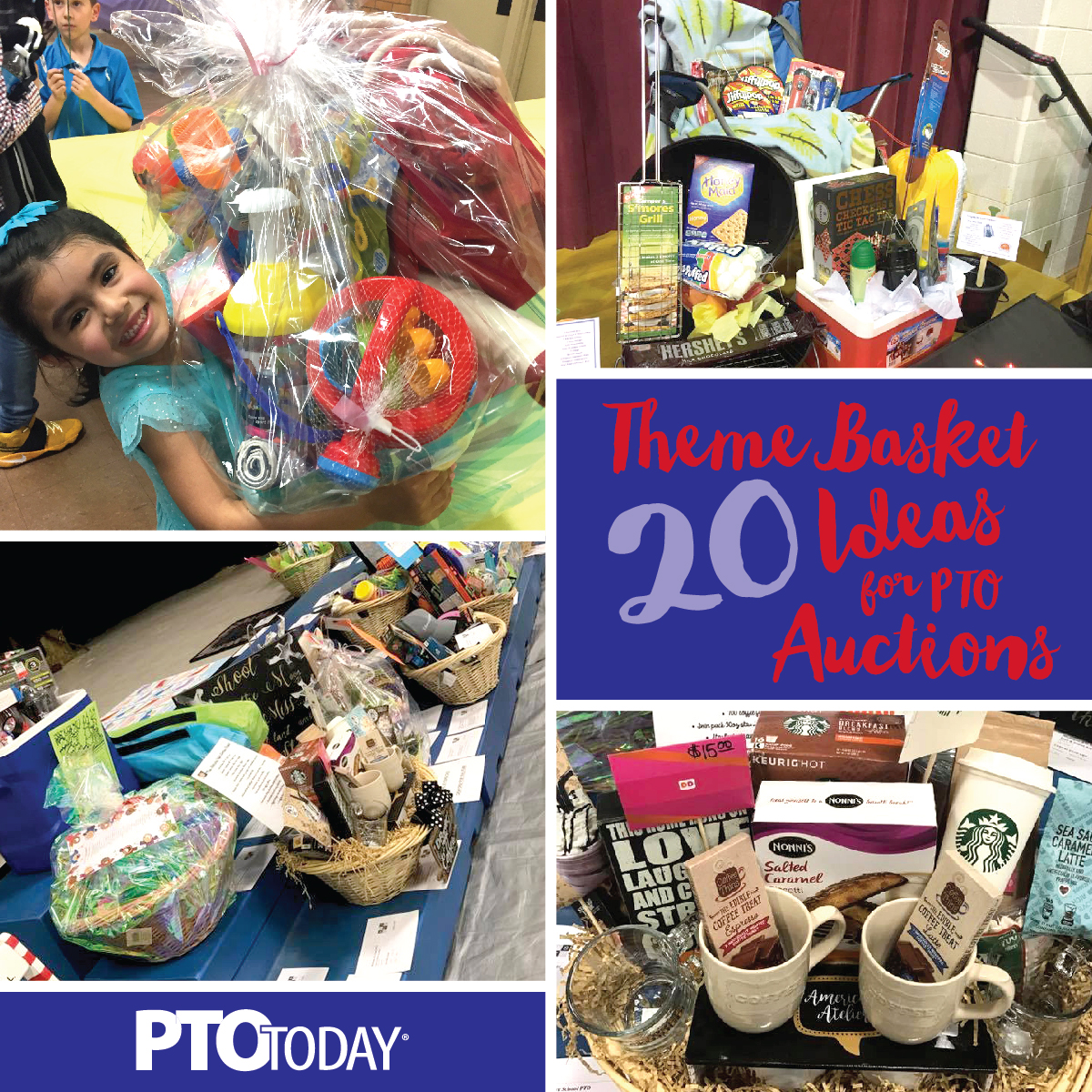 20 ideas for theme baskets for ptos and ptas