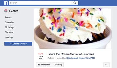 Use Facebook Events To Promote Your School Fundraiser