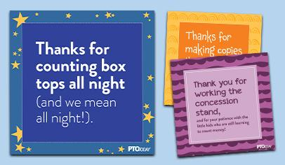 Sassy Volunteer Appreciation Cards