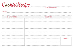 Cookie Recipe Cards