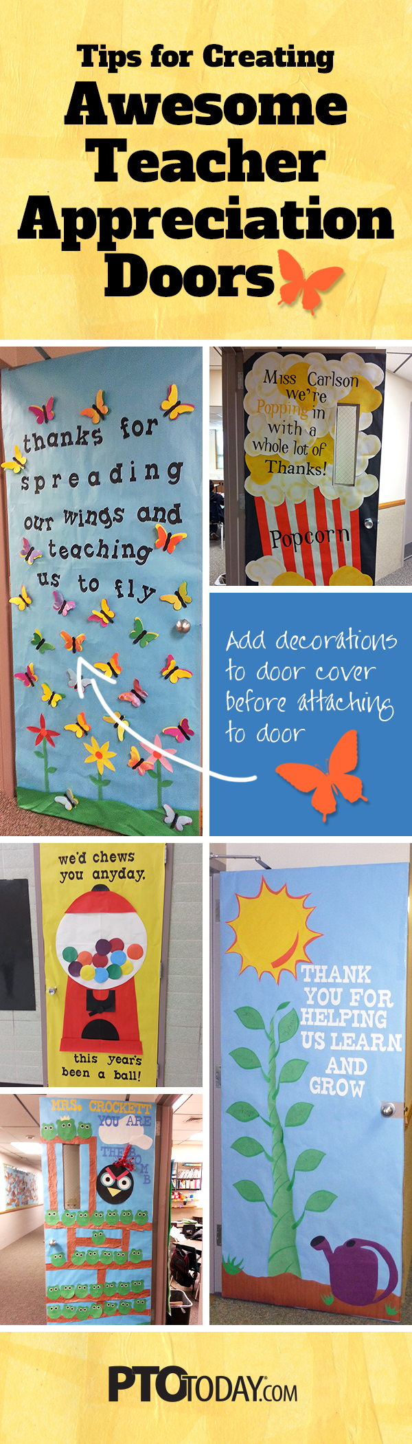 Pin this article!  sc 1 st  PTO Today & Teacher Appreciation Door Decorating Ideasu2014Tips for PTO and PTA ... pezcame.com