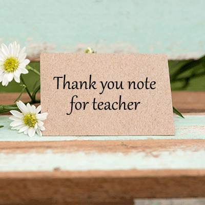 Thank You Note For Teacher Pto Today