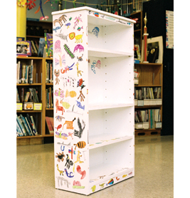 The Animals Were Cut Out And Glued To Bookshelf With Several Coats Of Sealant Created By A 1st Grade Class Sold For 500