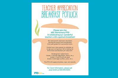 Celebrate With A Teacher Appreciation Breakfast Pto Today