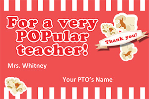 Teacher Appreciation Popcorn Tag