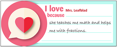 There S Nothing Sweeter Than Teacher Valentines Written By Their Students Using Our Printable Valentine Day I Love Notes Ask To Write