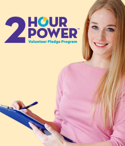 2 Hour Power Volunteer Pledge Program