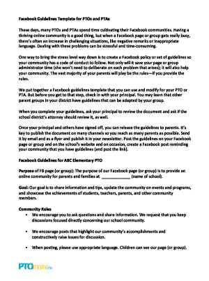 Facebook guidelines template for ptos and ptas pto today copy and paste the text above or download the template below as an editable word doc pronofoot35fo Gallery