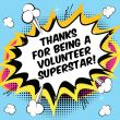 Thanks for being a volunteer superstar