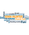 School Volunteer Appreciation Word Cloud