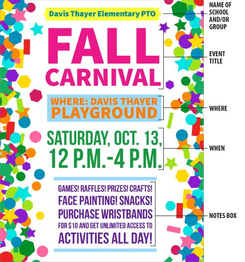 fall carnival flyer pto today