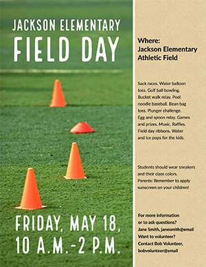 customized field day flyer 2