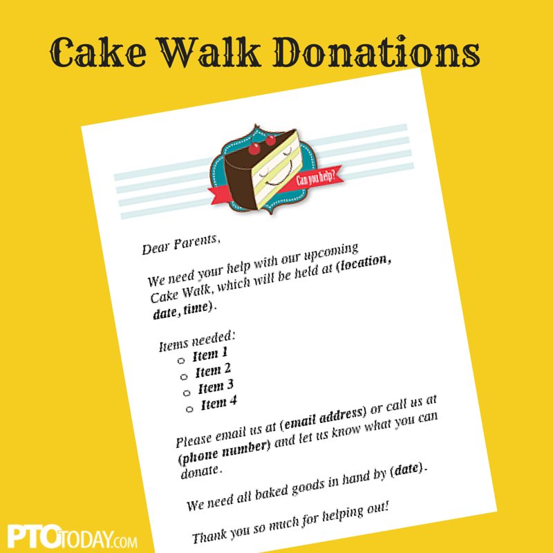 Cake Walk Flyer