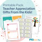 Teacher Appreciation Gifts From Students Printable Pack