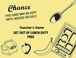 Lunch Duty Coupons for Teachers