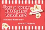 Popcorn Gift Tags for Teacher Appreciation