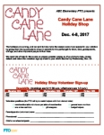 Holiday Shop Event Flyer: Candy Cane Lane