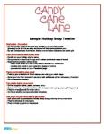 Holiday Shop Sample Timeline: Candy Cane Lane