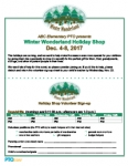 Holiday Shop Event Flyer: Winter Wonderland