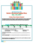Holiday Shop Volunteer Sign-up Sheet: Santa's Workshop