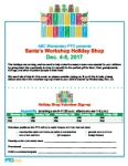Holiday Shop Event Flyer: Santa's Workshop