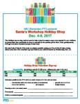 Holiday Shop Event Flyer: Santa's Workshop
