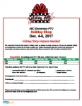 Holiday Shop Volunteer Sign-up Sheet