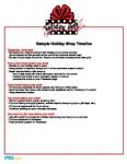 Holiday Shop Sample Timeline