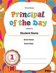 PTO Today: Principal of the Day Certificate