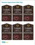 Volunteer Appreciation Coffee Tags