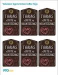 Volunteer Appreciation Coffee Tags