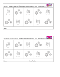 Winter Collection Sheet