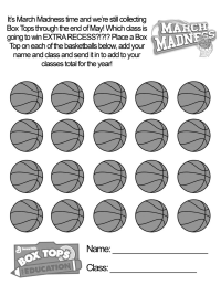 March Madness (Basketball) - Collection Sheet