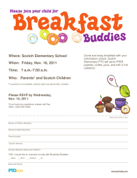 Breakfast Buddies Invitation
