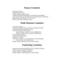 Committee Descriptions