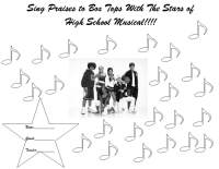 25 count High School Musical Collection Sheet