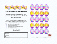 Let's ReDecorate the Easter Eggs... with box tops!!