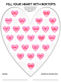 Valentine Collection Sheet - 25 Count