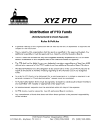 Distribution of PTO Funds - General Policy