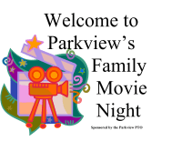 Family Movie Night Welcome Sign