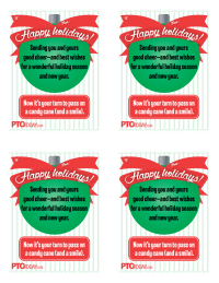 Teacher appreciation gift tags pto today holiday candy cane note for teachers negle Images